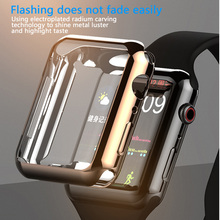 цена на For Apple Watch Series 3/2/1 38MM Case Soft TPU Plating Clear 360 Full Screen Protector Cover For iWatch 1 2 3 Band 38MM Case