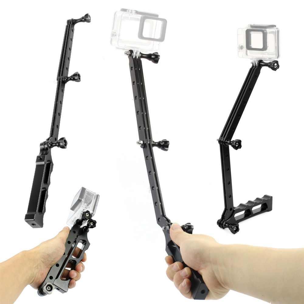 Шлем Selfie удлинение рукояти стержень ручной складной штатив подставка кронштейн для Gopro Hero 7 6 5 SJcam Yi спортивные камеры Запчасти