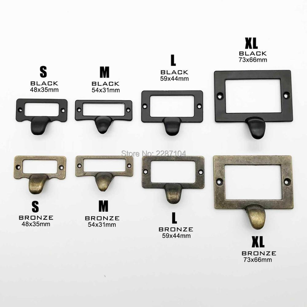 70mm x 33mm Vintage Style Metal Decorative Tag Card Label Holders 20pcs