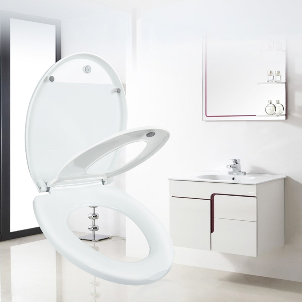 Household Round Adult Toilet Seat With Child Potty