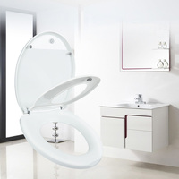 Household Round Adult Toilet Seat With Child Potty Training Cover PP Material Double Seats Safe Convenient For Adult Children