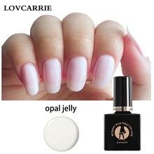 Lovcarrie Opal Jelly Nail Gel Polish Semi Permanent White Vernis UV Manicure Funny Bunny Varnish Primer Nails Art Gellak