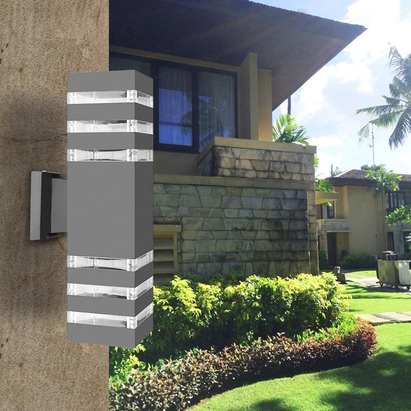 Moderne Led Wand Lampen Dual Kopf Wand Lampe Außen Beleuchtung Wasserdichte Ip65 Aluminium Hof Garten Veranda Lichter Ac85-265v Licht & Beleuchtung Led Outdoor-wandlampe