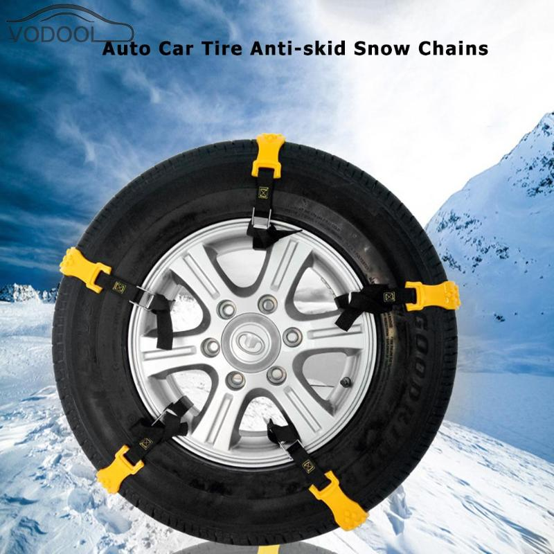 xj 2018 Upgraded Snow Tire Chains,Car Chains for Most Cars Anti-slip Car Emergency All Season Anti-skid Cables SUV Emergencies ,Fits Car//SUV//Truck-Set of 8