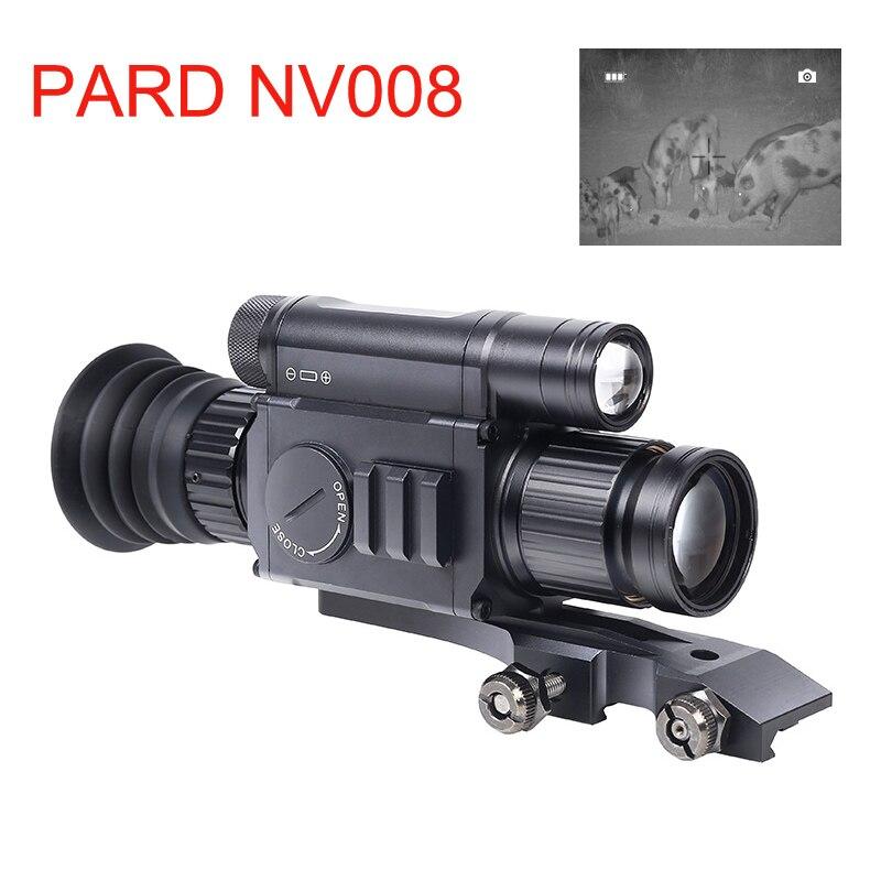 PARD NV008 200 м Диапазон Ночного Прицела 11-21 мм стандартный Picatiny ночного видения прицелы оптика для охоты ночного видения приложение Wifi