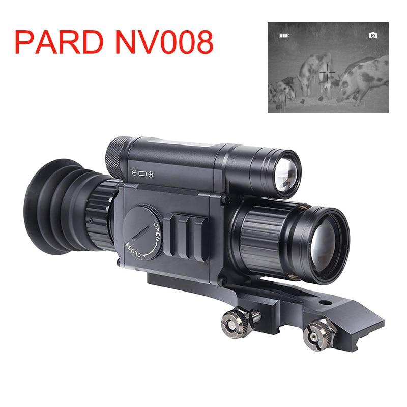 PARD NV008 200 M Rango de noche Riflescope 11-21mm estándar Picatiny noche visión lugares óptica para la caza de noche aplicación de visión Wifi