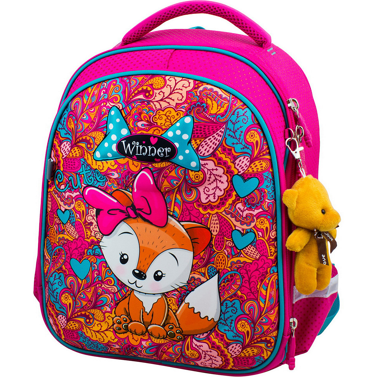 School Bags WINNER 11393813 Schoolbag Backpack For Boy And Girl Toy Key Chain Animals Reflective Element MTpromo