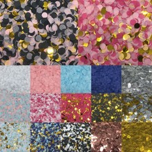 Round Table-Decorations Confetti Tissue Birthday-Party Wedding-Engagement 1cm Filling-Balloons