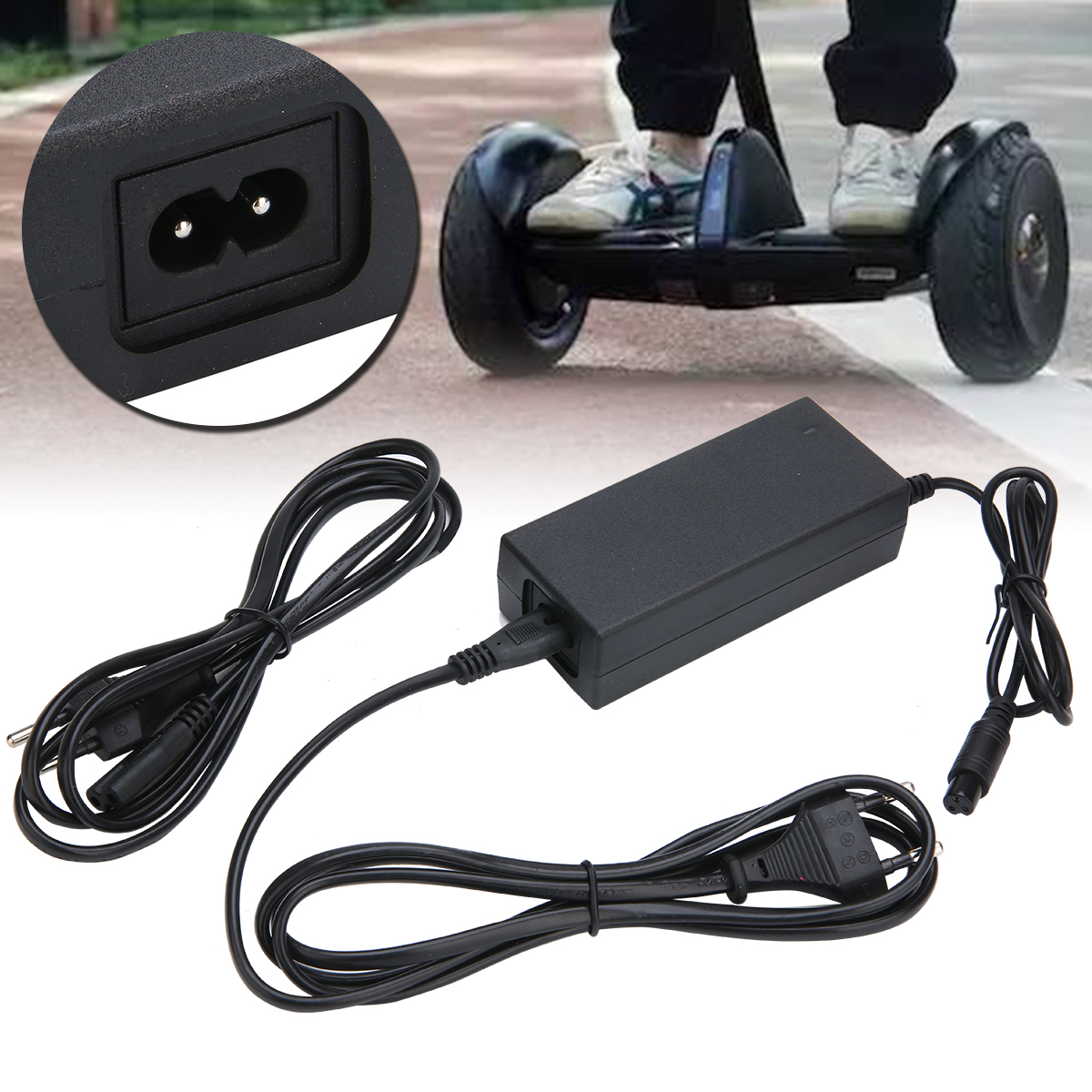 1Pcs 42V 2A Power Battery Charger Adapter Plastic and Metal For Self Smart Balance Two Wheel Scooter Parts Accessories-in Skate Board from Sports & Entertainment