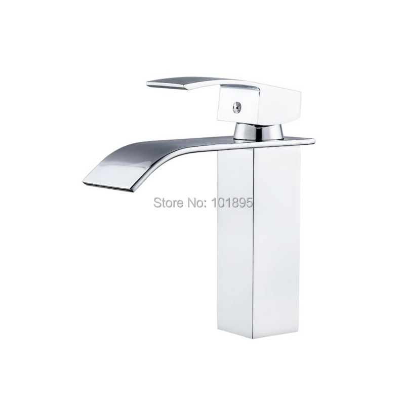 Brass Material Chrome Plated Cold & Hot Water Basin FaucetBrass Material Chrome Plated Cold & Hot Water Basin Faucet