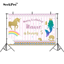 thin vinyl birthday mermaid unicorn rainbow children photo Backgrounds Printed Professional indoor Photographic studio Backdrops