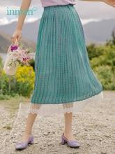 夏新到着柄は弾性ウエストロマンチックなレースエレガントな女性のスカート をインマン 2019