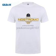 GILDAN O-Neck Short Sleeve Fashion tees Alien Shirt man cotton Nostromo nique Organic Cotton T-shirt