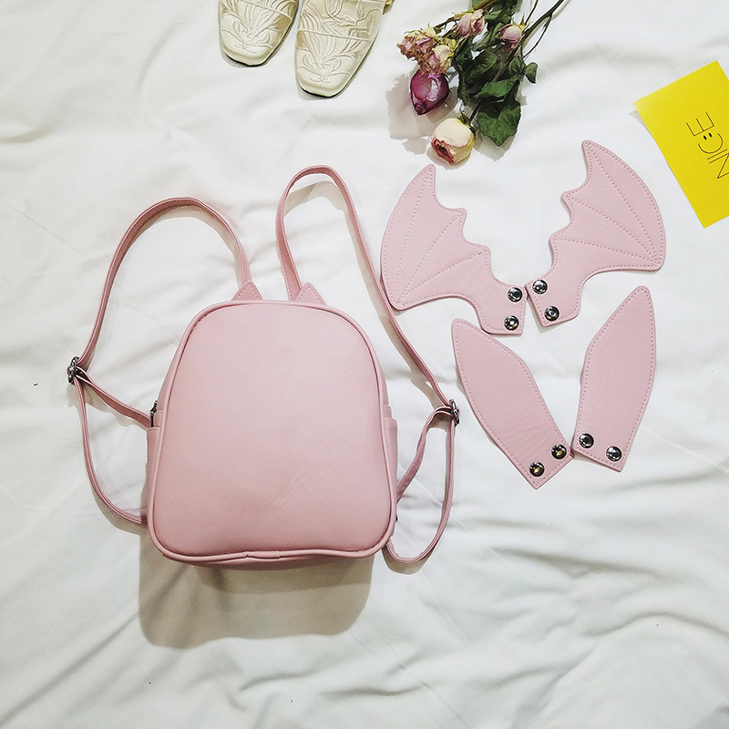 Shoulder Bag Female Korean-Style Leisure Simple Backpack 2019 Spring New Style Cartoon Animation Rabbit Ears Package Female billeteras largas para mujer