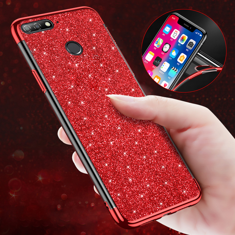 Soft Tpu Case For Huawei Honor 7x Phone Case Dynamic Liquid Glitter Sand For Huawei Honor 7x Silicone Cover Cellphones & Telecommunications