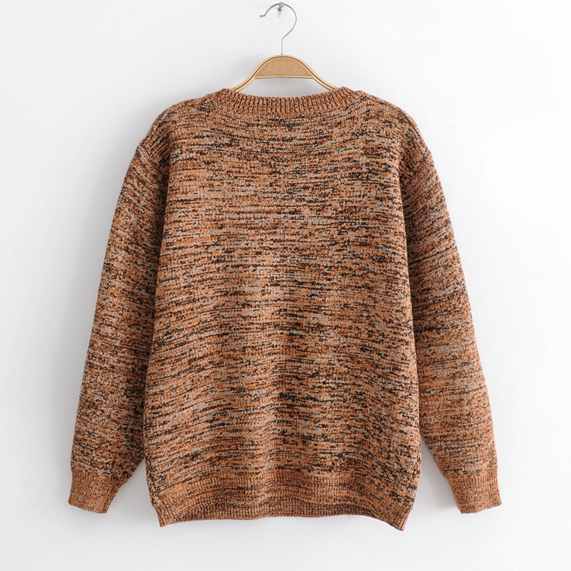 Style Female Winter Picture As Knitted Cartoon The Womens Pullover Tops Sweet Korean Vintage Casual Sweater J335 Sleeve Girl Autumn Long Pxqw6p7