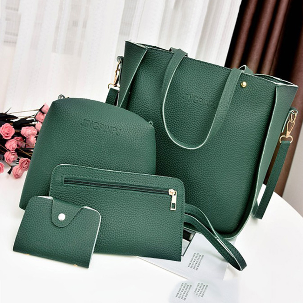 4Pcs/Set Tassel Handbags For Women 2019 Luxury Designer PU Crossbody Messenger Bags Shoulder Bags Satchel Tote Purse Bolso Mujer