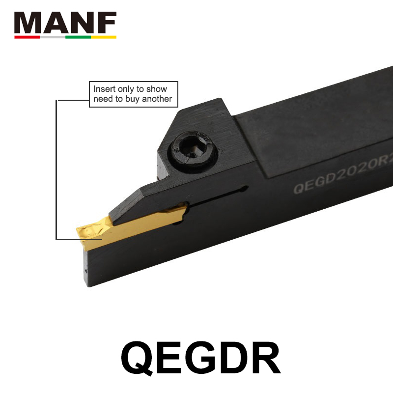 MANF Turning Tool QEHD2525R22-5  5mm Width Lathe Grooving Machining Cutting Toolholders Lathe Cutting Tools Groove Cutting