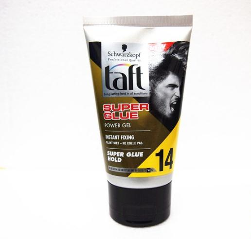 Taft SUPER GLUE 14 Hold Super cool styling gel hair gel wax /150ml