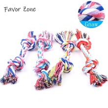 Petshop 1pc Toys For Dog Double Knot Cotton Rope Braided Bone Shape Tooth Cleaning Toy Interactive Puppy Kitten
