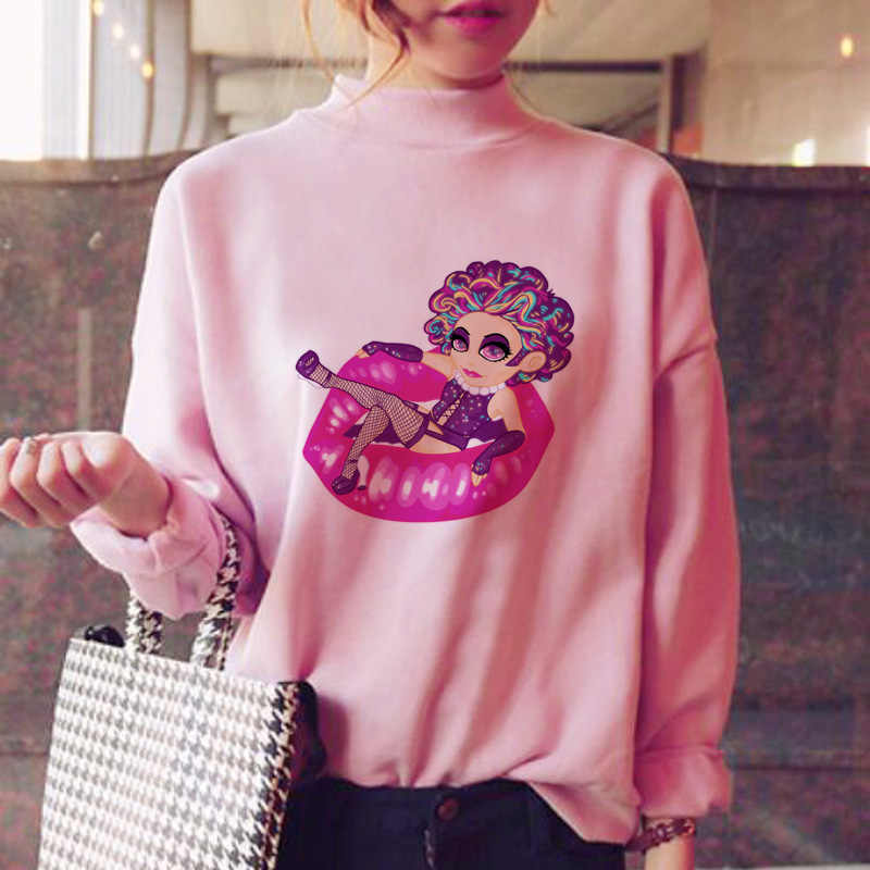 Lisa frank толстовки для женщин японский свитер Спортивная рубашка harajuku мода негабаритных флис зима