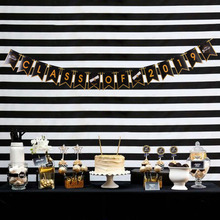 Graduation Party Decorations Class of 2019 Banner Black and Gold Congrats Grad Garland High School