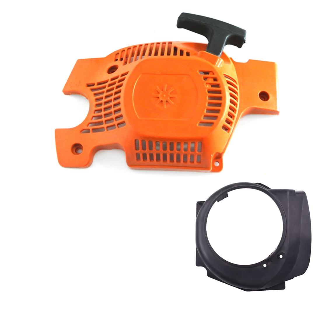 Recoil Pull Starter Assembly Flywheel Cover For Husqvarna 136 137 141 142