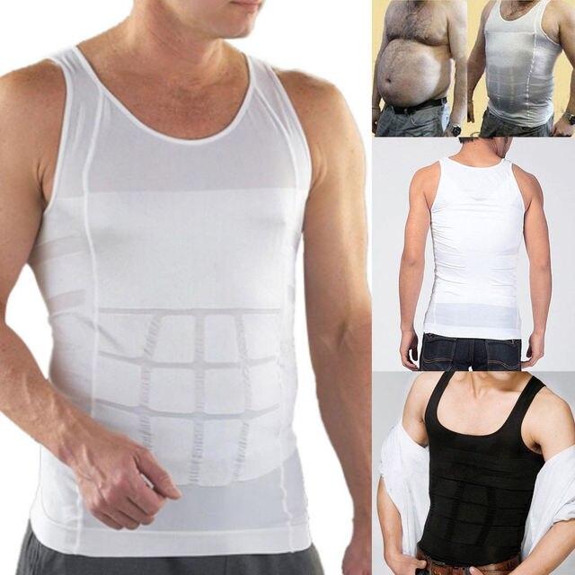 גברים מעצבי קיץ מוצק ללא שרוולים משרד בטן באסטר Vest בקרת ההרזיה גוף Shaper חולצה