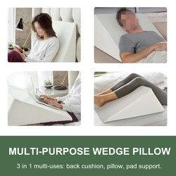 Triângulo cama cunha travesseiro algodão esponja almofada multifuncional pescoço de volta apoio do corpo almofada do hospital em casa