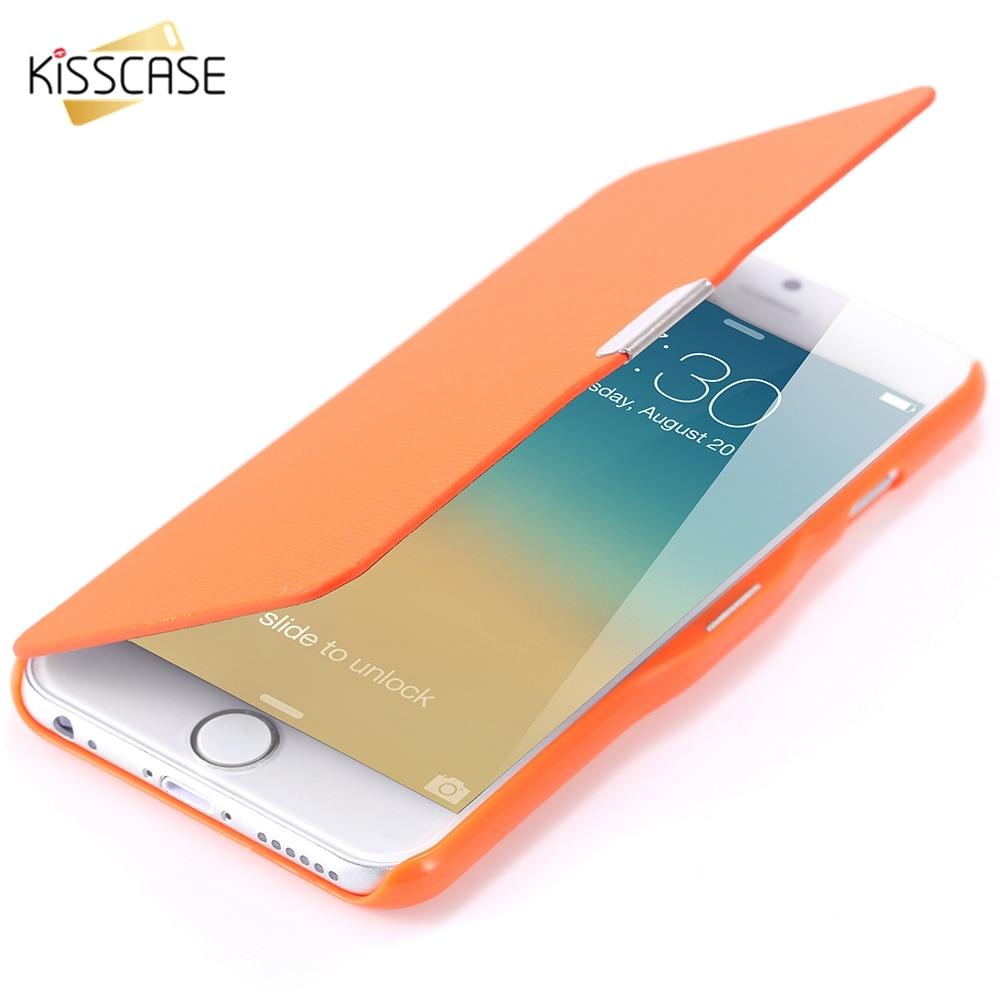 KISSCASE Magnetic Phone Case For IPhone 5C 5 5S SE 6 Phone Cases For IPhone 6 6S Plus Cases Ultra Thin Candy Color Flip Fundas
