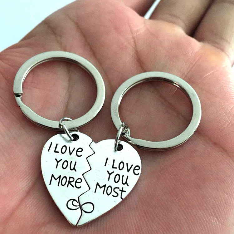 I Love You Puzzle Keychain Set For Couples Great Lovers Gift 2 Piece Set