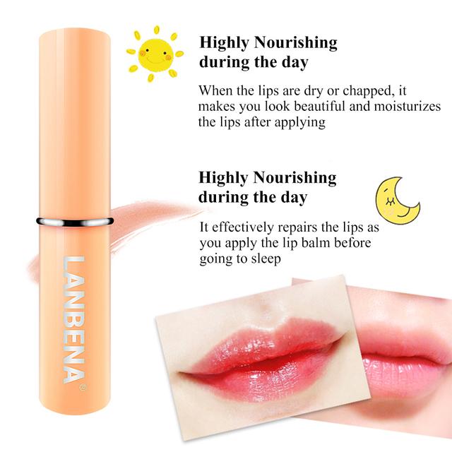 LANBENA Chameleon Lip Balm Mask  Reduce Fine Lines Makeup Moisturizing Lip Plumper Cosmetic Nourishing Lip Care Daily Use Beauty
