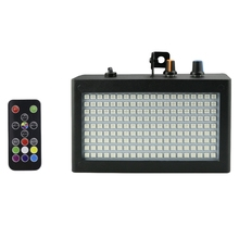 180 Leds Strobe Flash Light Portable 35W Rgb Remote Sound Control Strobe Speed Adjustable For Stage Disco Bar Party Club(Us Pl недорого