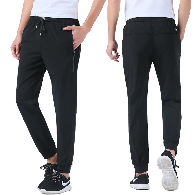 Streetwear Baggy Sprotting Long Bikses Vīrieši Pavasara vasaras Vīriešu mazās pēdas izstiepj bikses Vīriešu L-5XL XXXXXL Plus izmērs