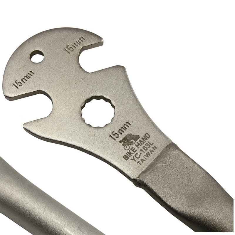 BIKEHAND Bicycle Foot Pedal Wrench Spanner 15mm Alloy Steel Long Handle Repair Tool For Road Bike Mtb Mountain Cycling
