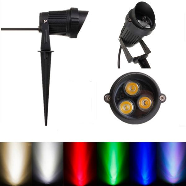 12W IP65 LED Floodlight Flood Light With Rod For Outdoor Landscape Garden Path AC85-265V Landscape Lighting