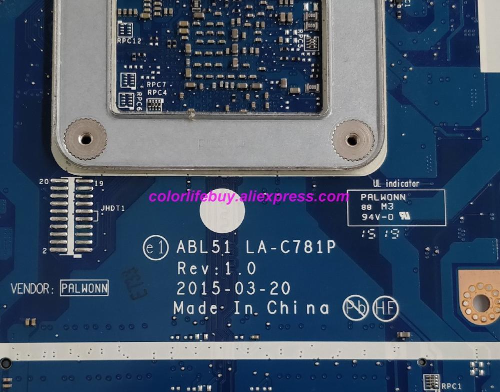 Image 5 - Натуральная 818487 501 818487 001 818487 601 R5M330/1 GB A6 6310 ABL51 LA C781P материнская плата для ноутбука hp 15 AF серии ноутбук ПК-in Материнская плата для ноутбука from Компьютер и офис