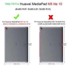 Image 5 - עבור Huawei MediaPad M5 לייט 10 נרתיק עור Stand Tablet כיסוי עבור Huawei M5 לייט 10.1 BAH2 W19 BAH2 L09 BAH2 W09 + סרטים