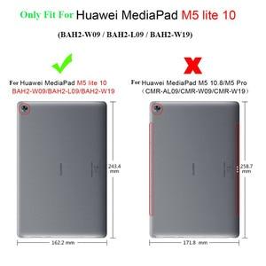 Image 5 - Per Huawei MediaPad M5 Lite 10 di Cuoio di Caso Del Basamento Tablet Cover Per Huawei M5 lite 10.1 BAH2 W19 BAH2 L09 BAH2 W09 + film