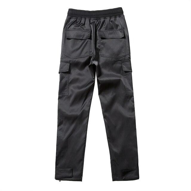 Nylon Snap Cargo Pants Men's Kanye West Streetwear Hip Hop Biker SweatPants for Men Straps Buttons Velcro Strap Closure Trousers 6