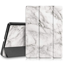 Coolaxy Case for iPad 2018 9.7 Lightweight Smart Trifold Case PU Leather Hard Back Cover Marble Case for Apple iPad 2018 protective marble pattern hard plastic back case for ipad brown