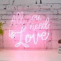 Все, что вам нужно это любовь неоновая вывессветодио дный светодиодная визуальная работа бар клуб Настенный светильник лампа Валентина веч