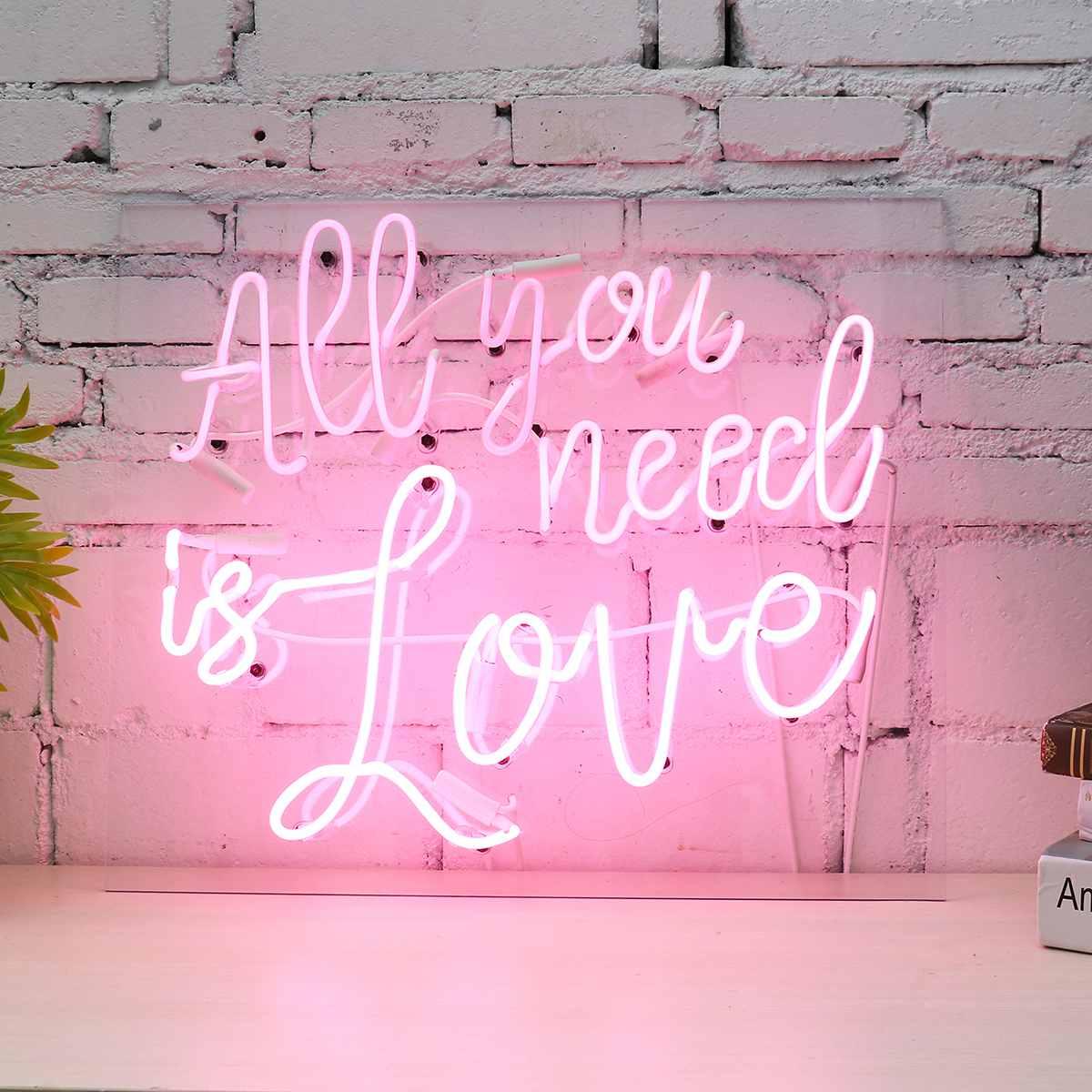Все, что вам нужно, это неоновая вывеска для любви, LED визуальное художественное оформление, бар, клуб, настенный светильник, лампа на День св