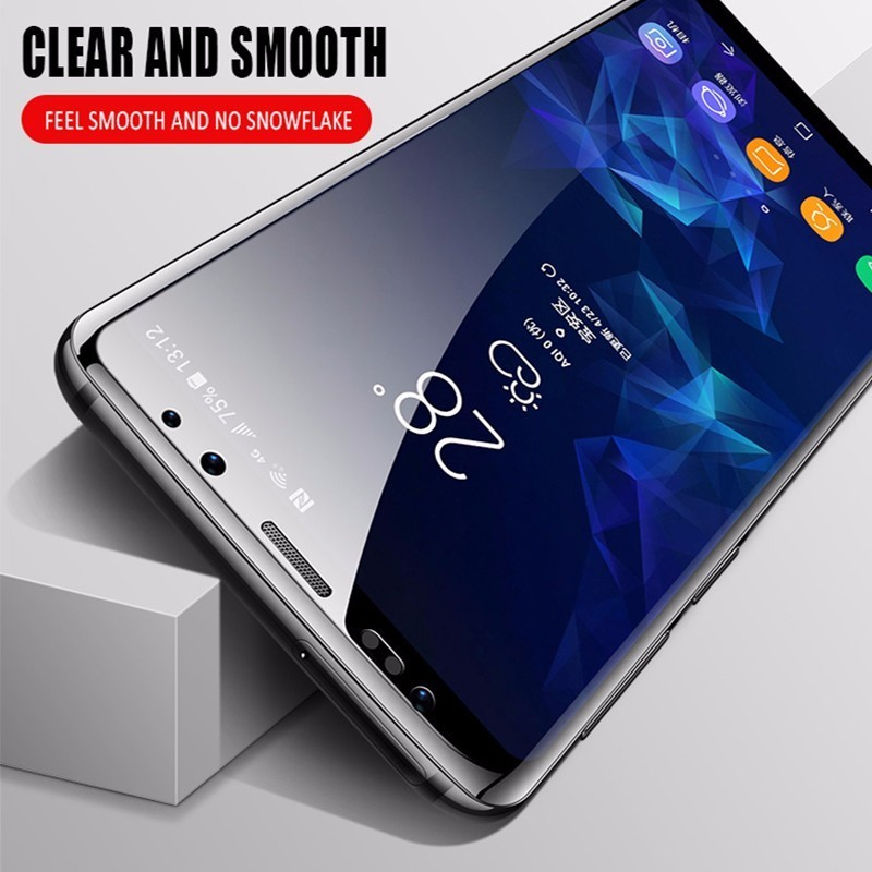 5D Full Glue protective glass on the for samsung galaxy j7 Prime case samung j2 pro j4 6 j7 j8 a8 a6 plus j3 2018 2017 glas film in Fitted Cases from Cellphones Telecommunications