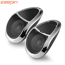 Zeepin 2PCS MT493 Bluetooth Audio Speakers Motorcycle MP3 Audio Player FM Radio Tuner Waterproof with Blue LED Light
