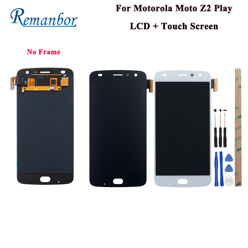 Remanbor For Motorola Moto Z2 Play XT1710 01 LCD Display And Touch Screen Repair Parts Digital Accessory +Tools And Adhesive
