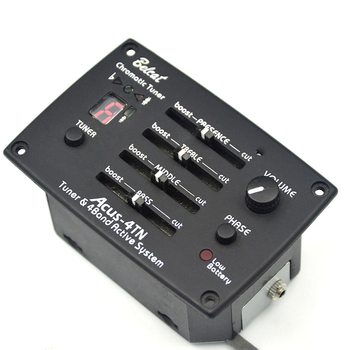 Belcat ACUS-4TN Guitar Pickup 4Band EQ with Tuner & Phase 4 Band Equalizer Preamp FND Chromatic Tuner
