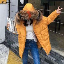 2018 New yellow Winter Jacket Women Parka Fake Fur Collar Down Wadded Female outerwear Cotton-Padded Jackets Women Winter Coat цены