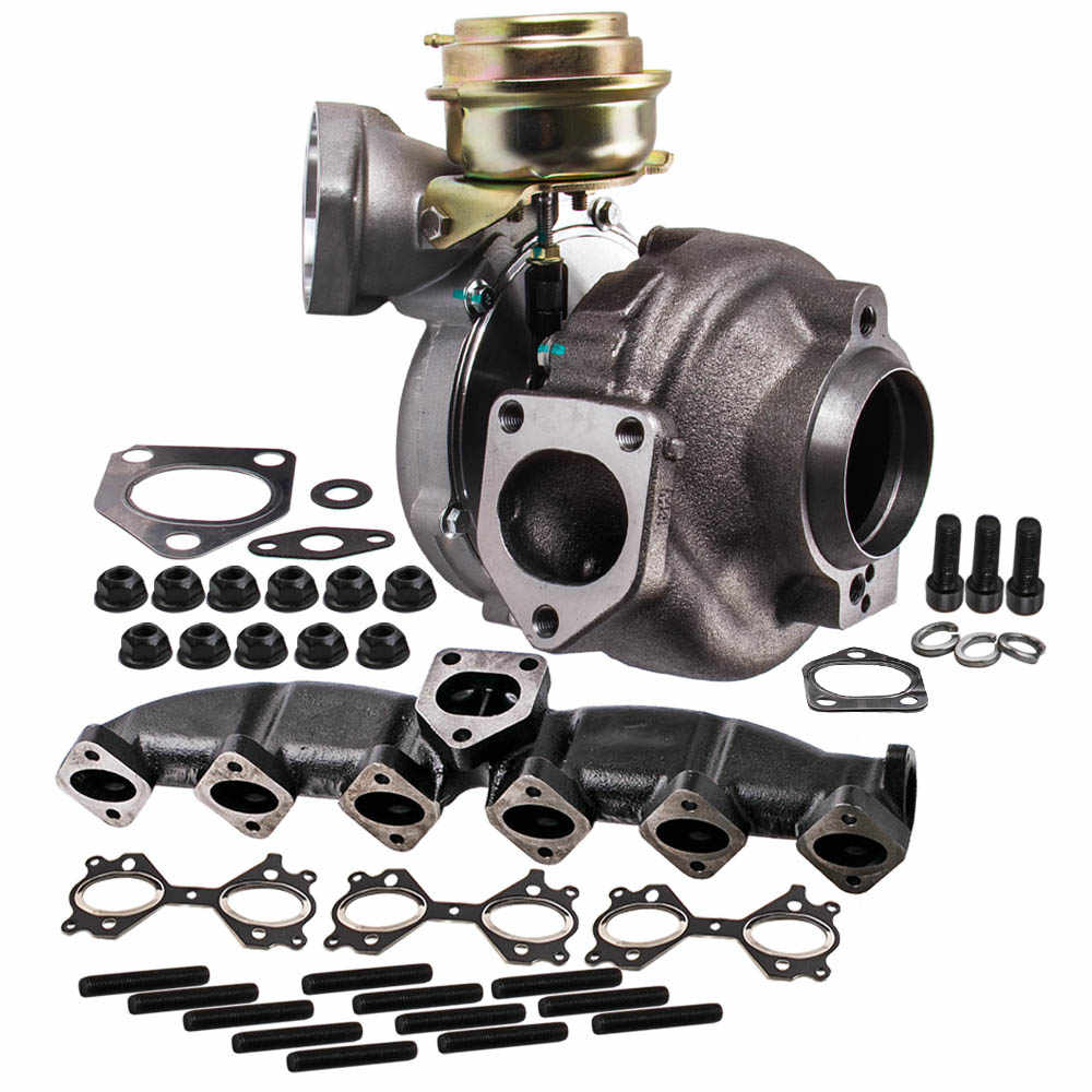 Turbo Turbocharger +Oil Line Manifold Kits Fit For Nissan