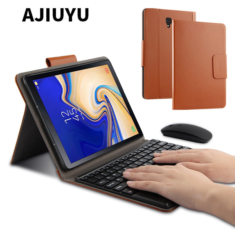 Case For Samsung Galaxy <font><b>Tab</b></font> <font><b>S4</b></font> 10.5 Bluetooth <font><b>keyboard</b></font> Protective Cover PU Leather SM-T830 SM-T835 c 10.5